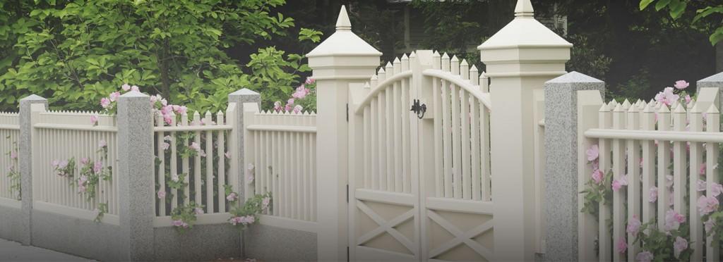White Residential Fence