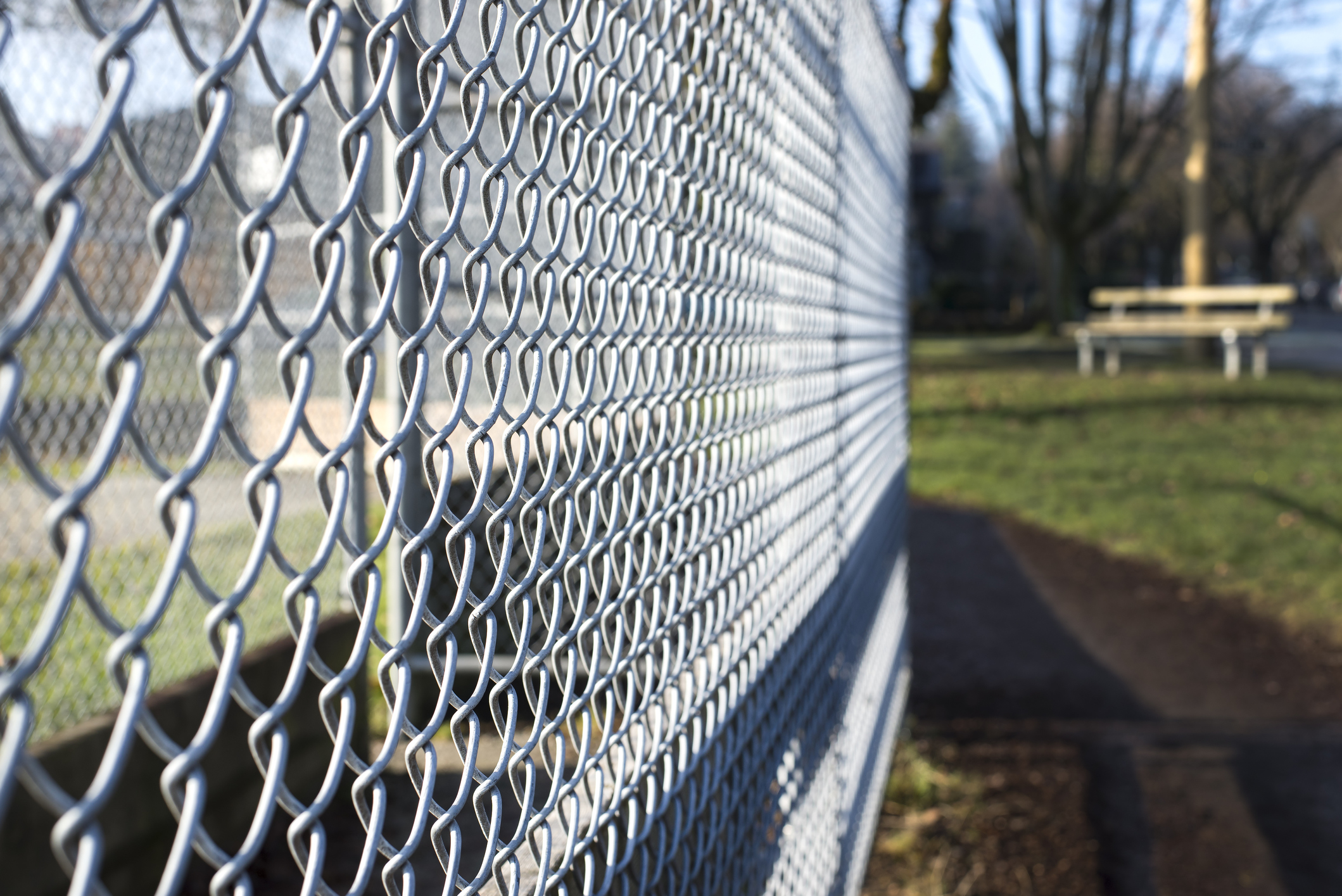 Chain Link Fence around Business