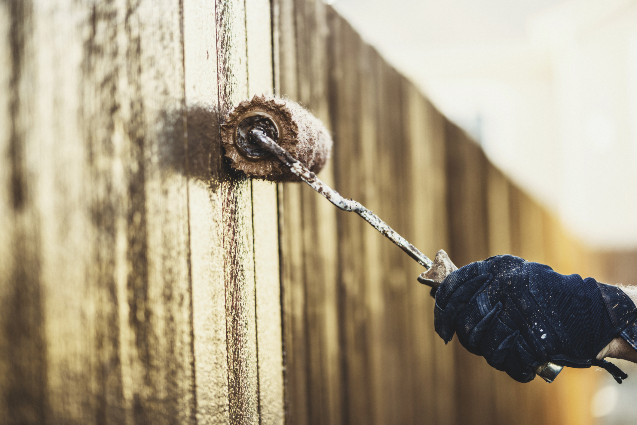 Staining a brand new fence