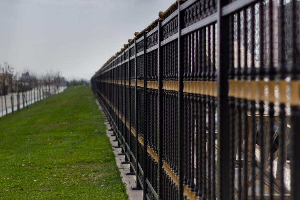 aluminum fence along property